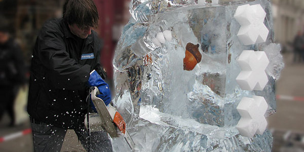 icecarving-demonstratie